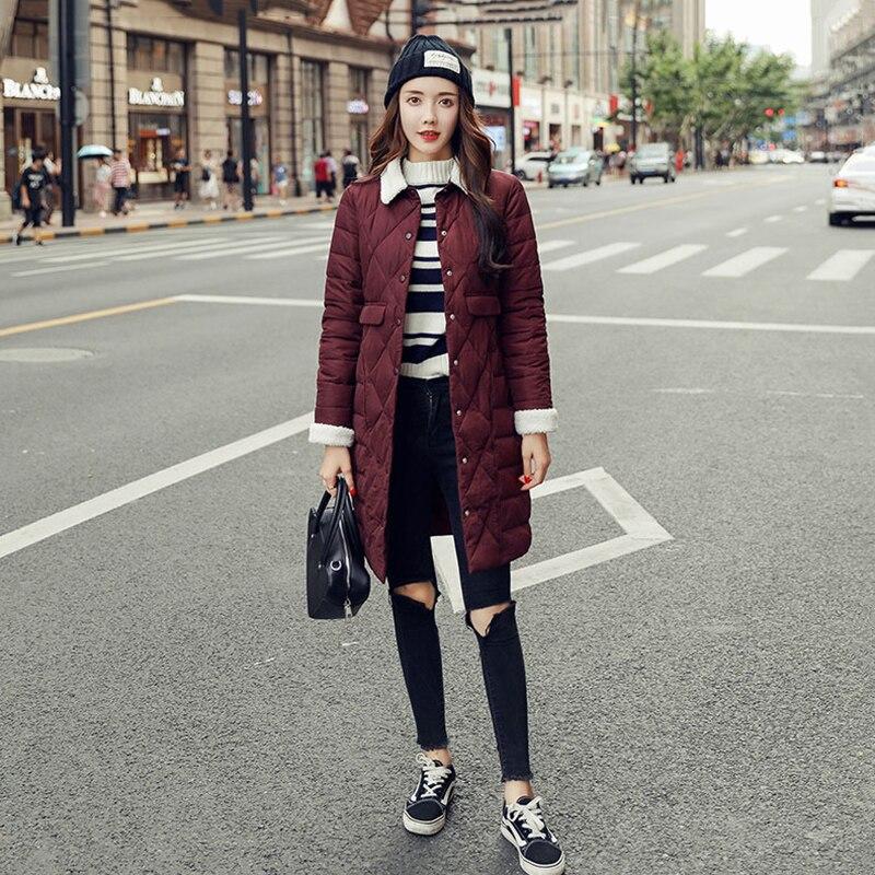 2019 parkas de Invierno para mujer abrigo de talla grande de algodón de color caramelo acolchado chaqueta femenina parka larga para mujer wadded jaqueta feminina