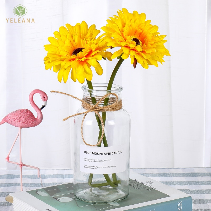 Flores artificiais ramo gerbera flores de papel baixo preço de ação de graças decoração para casa flores artificiais rendas decorativas