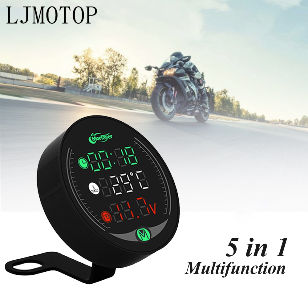 Night Vision Motorcycle Meter Time Water Temperature Voltage Table For Suzuki GSX1100F Katana 250 500 600 Katana RG500 v250