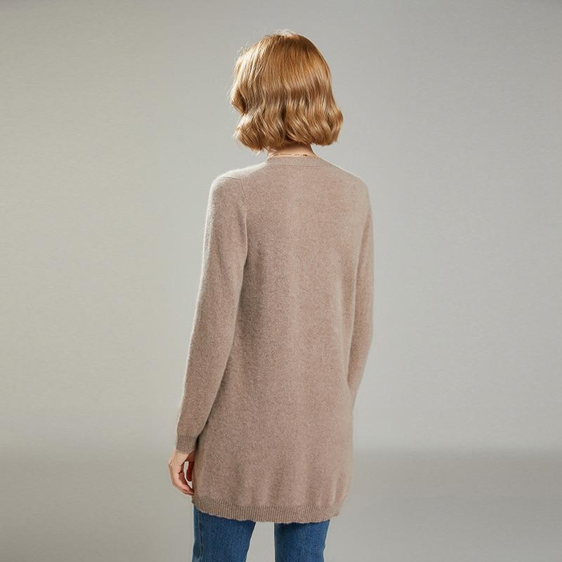 MeetMetro Women Cardigan 35% Cashmere Sweater Autumn Knitted Sweater Winter Warm Wool Sweaters Solid Jumper Women Korean Fashion enlarge