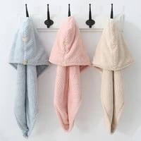 magic microfiber bath towel hair dry quick drying lady bath towel soft shower cap hat for lady turban head wrap bathing tools