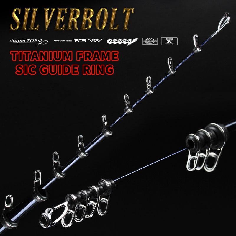 Kyorim SILVERBOLT Rock Fishing Rod 4m/5m Titanium Frame SIC Guide Ring Carbon Fishing  Rod Tackle Carbon Reel SEAT enlarge