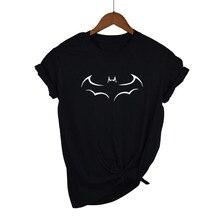 2020 100% Cotton New Fashion Brand Women T-shirts Batman T Shirts Stretch Cotton Tees Plus Size Modal Tops