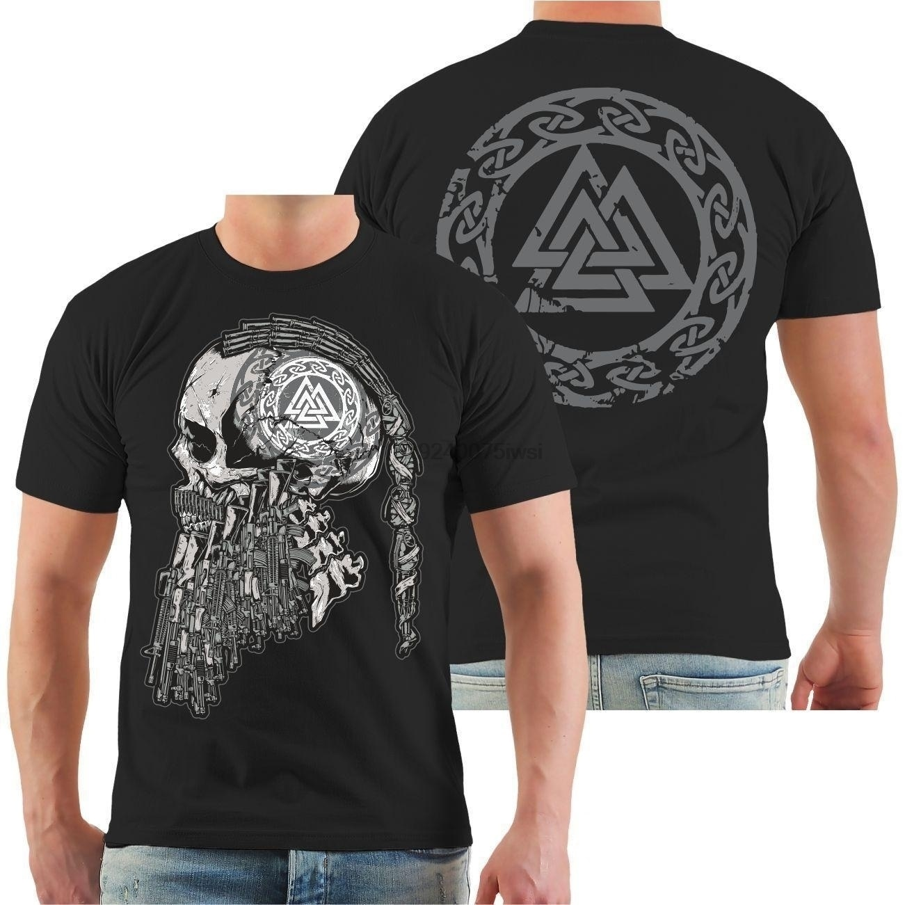 Ocaso de los dioses Wikinger Odín y Thor Runen Woton vikingos Germonen Heiden T camisa