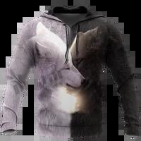 plstar cosmos 3dprint newest black white wolf art harajuku premium streetwear funny unique awsome casual hoodiessweatshirtzip1