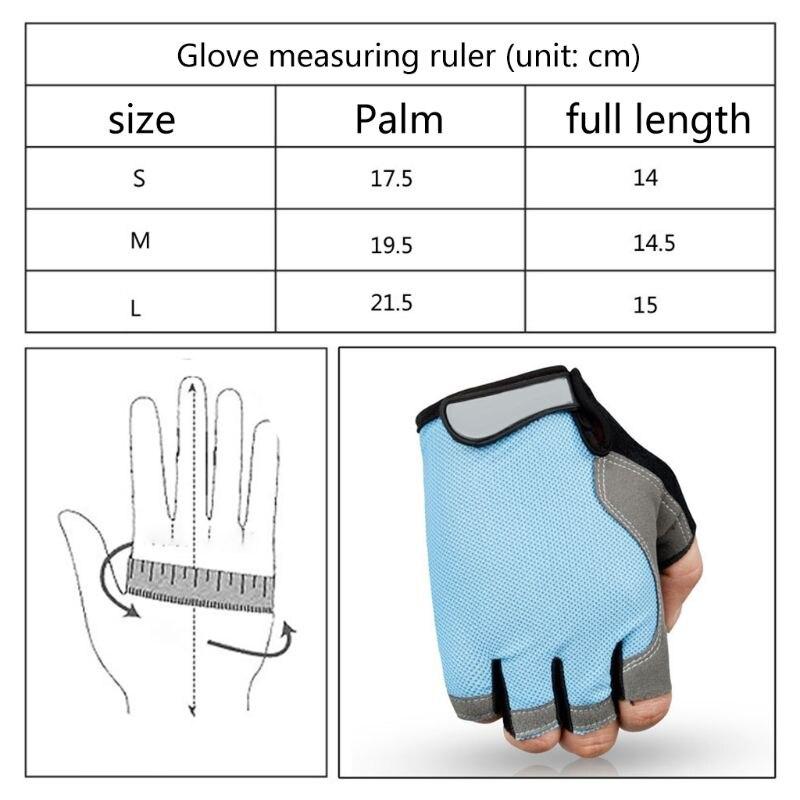 Luvas de ciclismo de silicone mtb luvas de equitação de estrada anti-deslizamento anti-suor metade do dedo