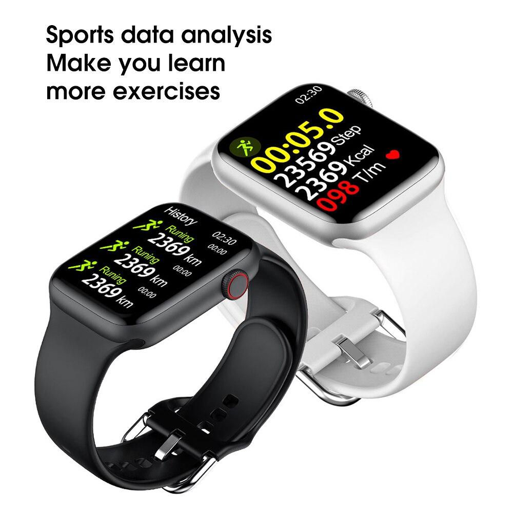 Hcb0e464517ea4793a6b84344d2e88077U IWO W46 Better Than W26 Smartwatch IWO 12 Pro 13 Smart Watch Men Women DIY Face Wireless Charger Body Temperature Smartwatch