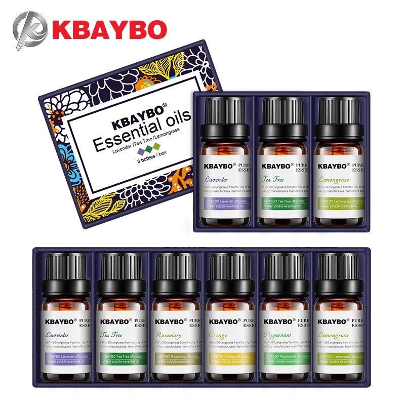Kbaybo óleos essenciais para a aromaterapia difusores lavanda chá árvore lemongrass chá árvore alecrim óleo de laranja