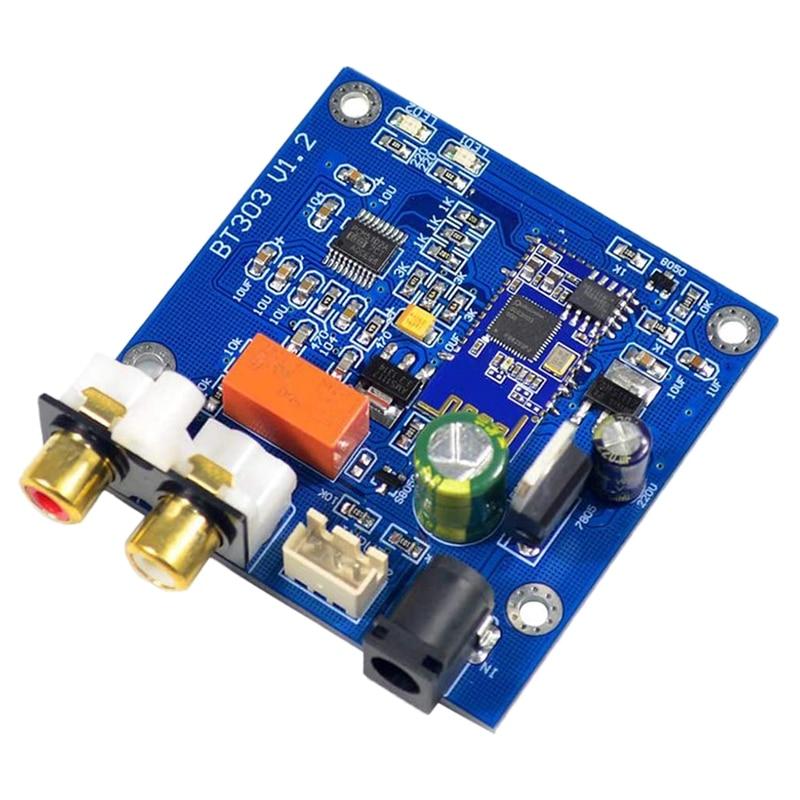 Decoder Board,Bluetooth 5.0 Wireless Decoder Board PCM5102 DAC Support A2DP AVRCP HFP AAC I2S Decoding Power Amplifier