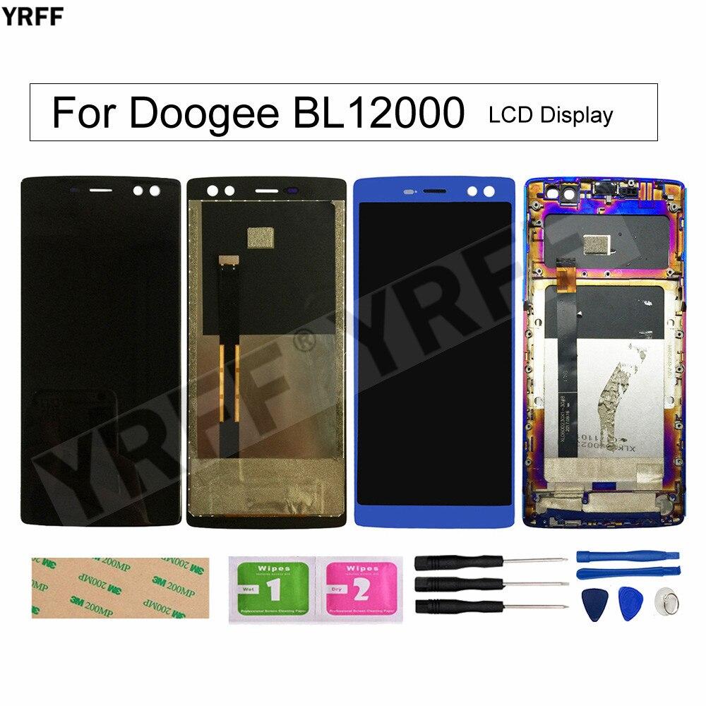 BL12000 شاشات LCD المحمول ل Doogee BL12000 برو شاشة الكريستال السائل مع الإطار محول الأرقام بشاشة تعمل بلمس الزجاج لوحة أدوات 6.0 ''18:9 FHD