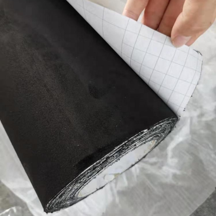order 20 rolls get 1 roll free New-Style product car body black color micro suede fabric car velvet vinyl sticker