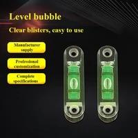 2pc horizontal precision spirit bubble measuring high precision green round bullseye bubble level mini square measurement kit