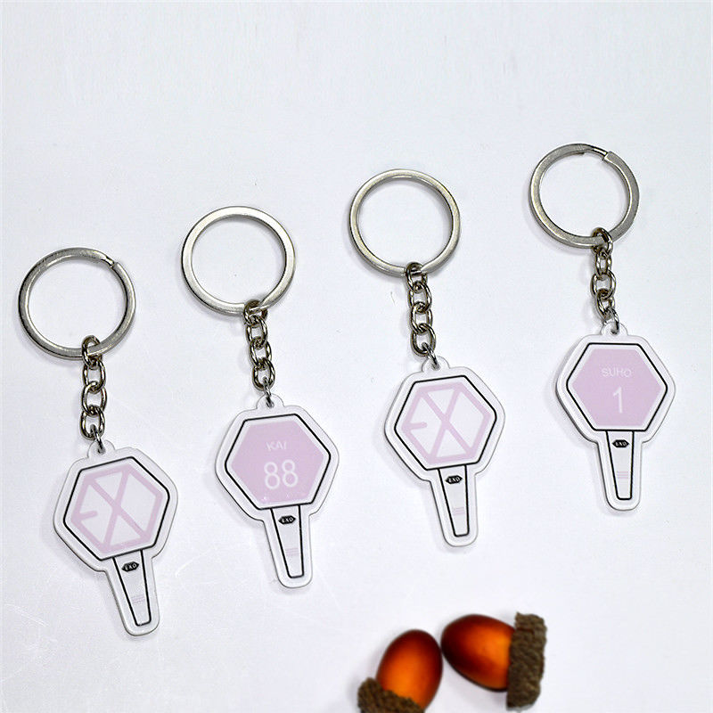 Брелок KPOP exo THE WAR, брелок для ключей XIUMIN CHEN KAI SEHUN CHANYEOL, для EXO-L, аксессуары для EXO, подарок для любителей