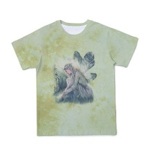 New spring and summer fashion gradient female elf print T-shirt top hip-hop loose primitive style sh