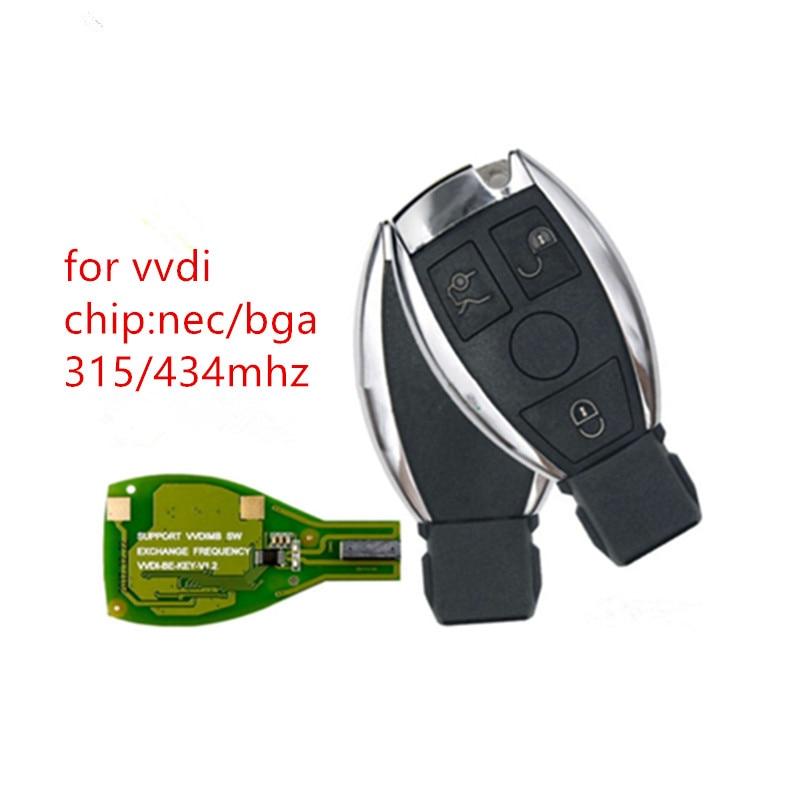 Xhorse VVDI BE مفتاح برو نسخة محسنة 433MHz مفتاح بعيد كامل لمرسيدس بنز BGA كن مفتاح