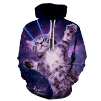 brand new autumn and winter 3d printing cat round neck unisex hoodie fashion street casual harajuku hoodie top
