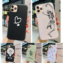Suitable for iphone 5 5s se 6 6s plus 7 8 2020 mobile phone case back cover soft silicone matte cart