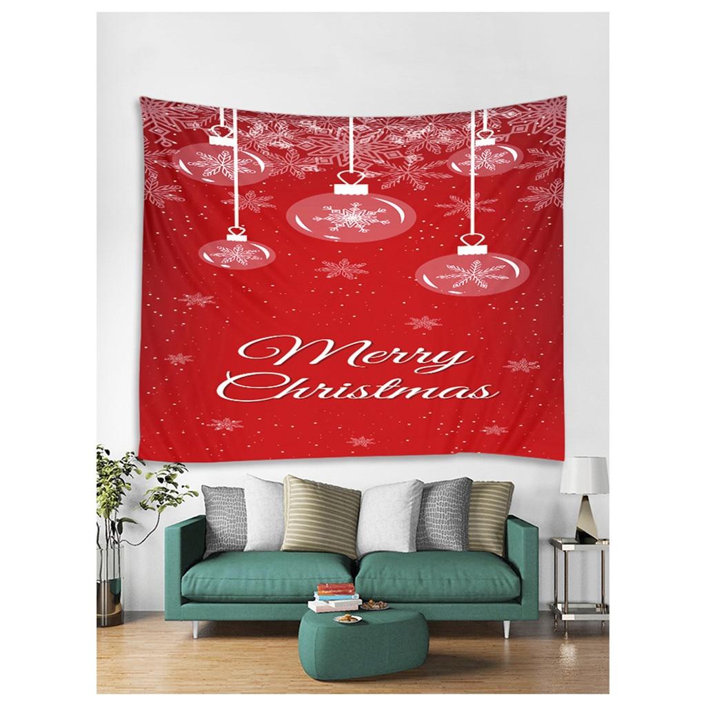 Impressão de natal casa férias tapeçaria poliéster parede pendurado decoração presente toalha de praia cobertor dropshipping 130x150cm # f # w