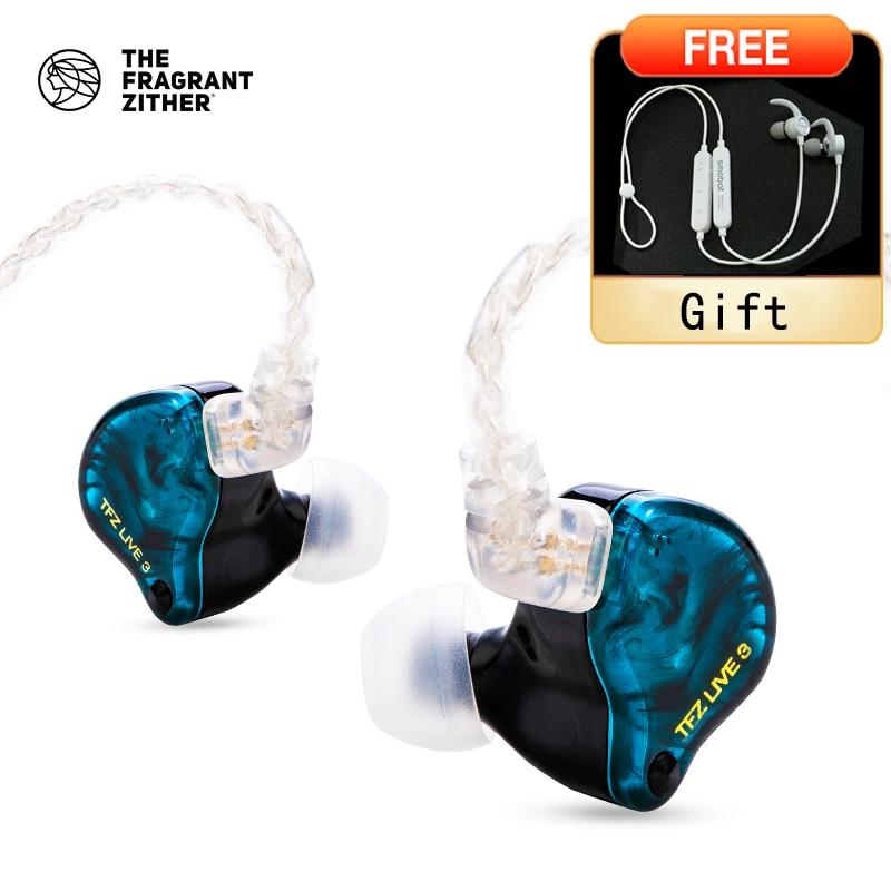 TFZ LIVE 3 Hifi في الأذن السلكية 3.5 مللي متر 0.78 مللي متر 2 المغناطيسي 1.0 وحدة Teslas باس رصد سماعات أذن رياضية ترقية كابل سماعات الأذن
