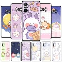 case for xiaomi mi poco x3 nfc m3 pro f3 gt 11 10 9t 10t lite 5g pocophone f1 black soft phone fundas cartoon rabbit