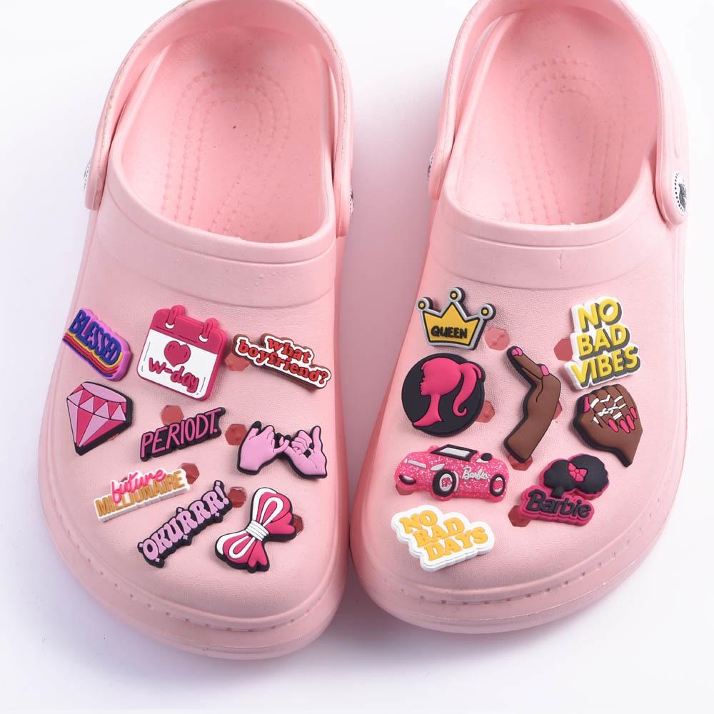 1 Pcs 2021 New Designer Women Croc Shoes Charms Girl Power Accessories Beauty Lipstick Queen Clog Sh
