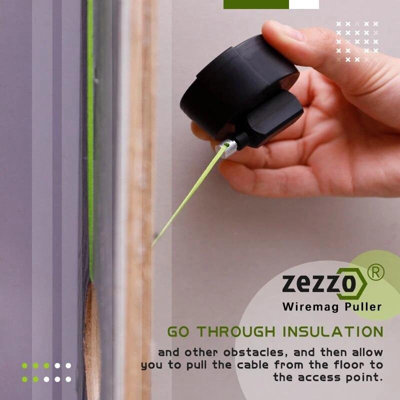 Wiremag مجتذب المفاجئة سلك موتر كابل دفع أدوات عجلة دفع عالية الجودة الأخضر