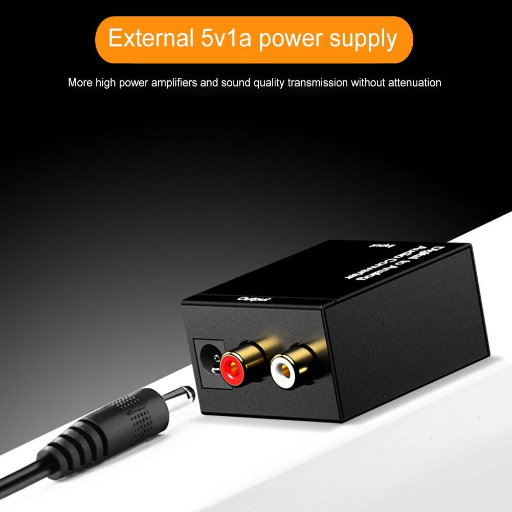 Adaptador de convertidor y amplificador de Audio estéreo de fibra Digital a...