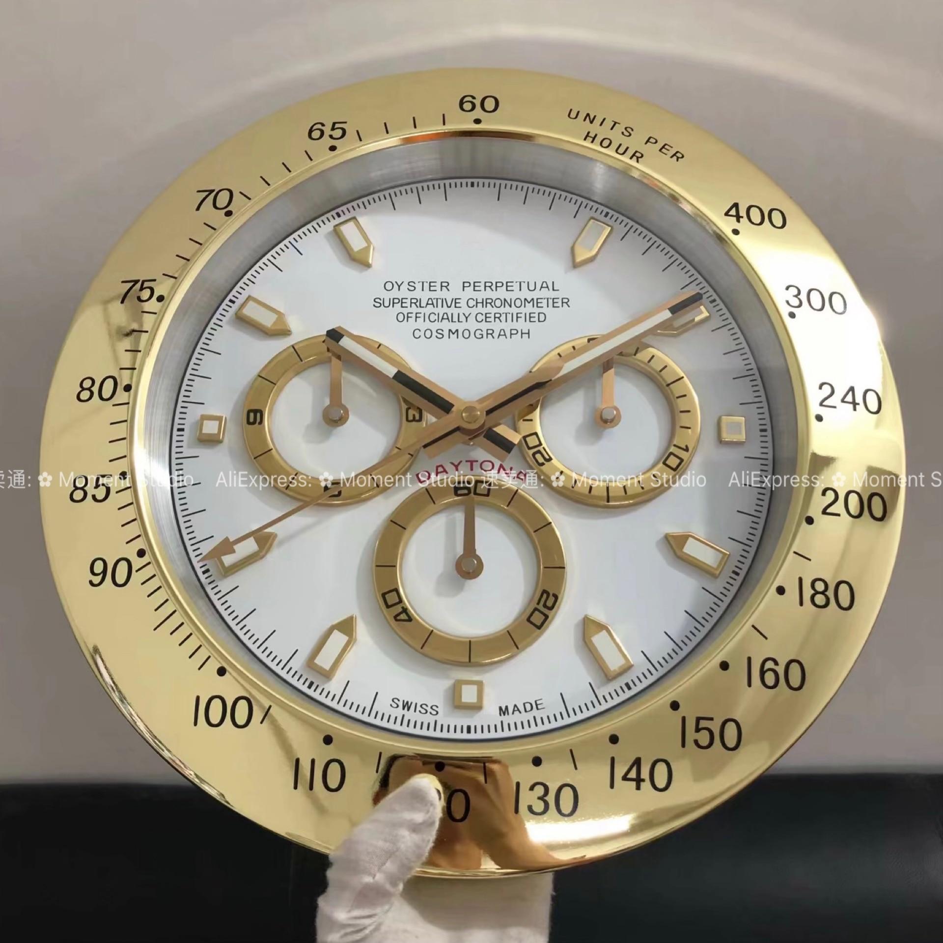 Роскошные дизайнерские настенные часы, металлические большие металлические дешевые настенные часы GMT, зеленые настенные часы water ghost