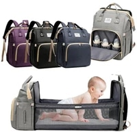 mummy baby diaper backpack with extendable crib travel nappy bag for babies multifunction bed folding baby mom travel backpack