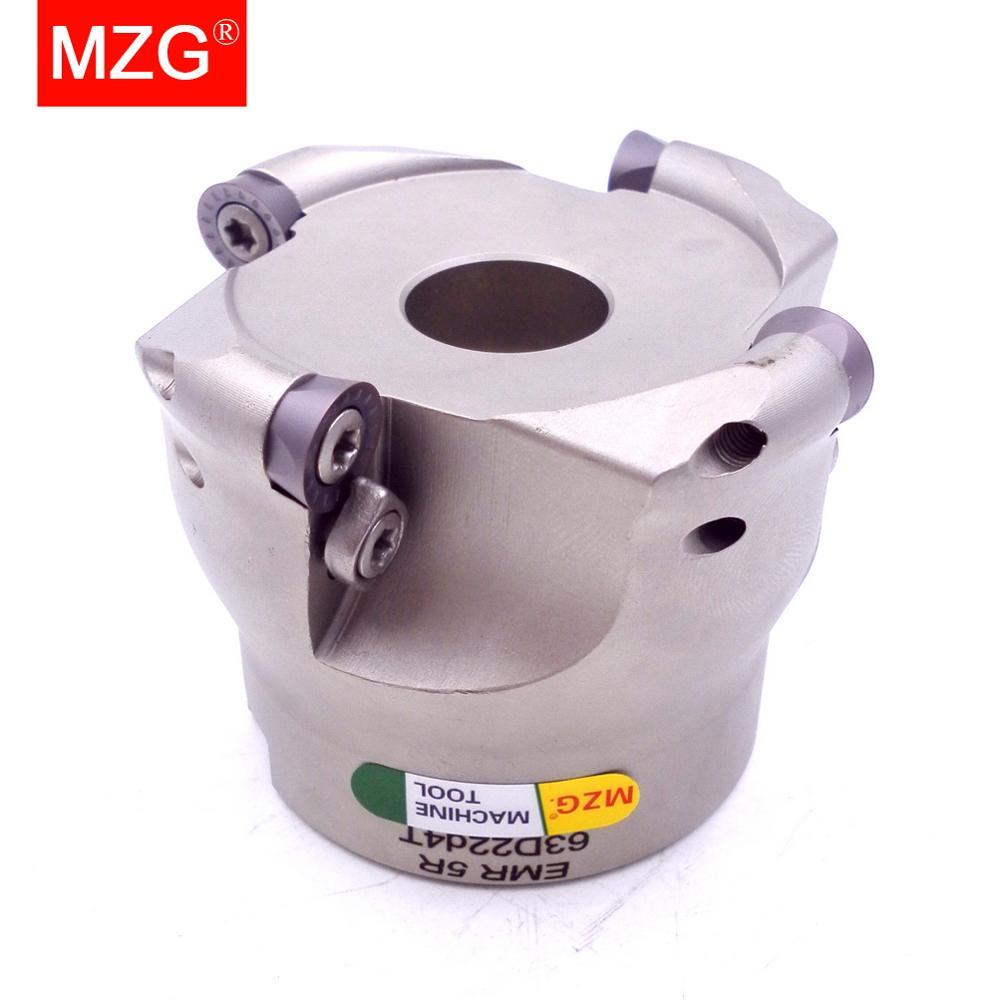 MZG EMR 5R 63 80 100 مللي متر RP كربيد إدراج لقفل نهاية سبيكة مطحنة عرقوب طحن القطع أنف دائري القاطع