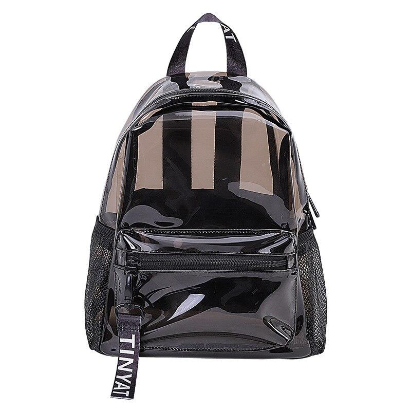 Прозрачный рюкзак, женский модный водонепроницаемый рюкзак из ПВХ, Желейный рюкзак, летняя дорожная пляжная сумка, школьная сумка для девоч...