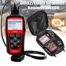 Оригинальный Автомобильный сканер KONNWEI KW808 OBD, автомобильный диагностический сканер OBD2, автомобильный диагностический сканер с поддержкой J1850, считыватель кодов двигателя из фуалта, dfd