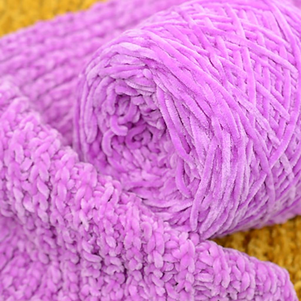 Bufanda de hilo de terciopelo dorado Hilado de lana de punto grueso cálido gorro de hogar 2020 gran oferta