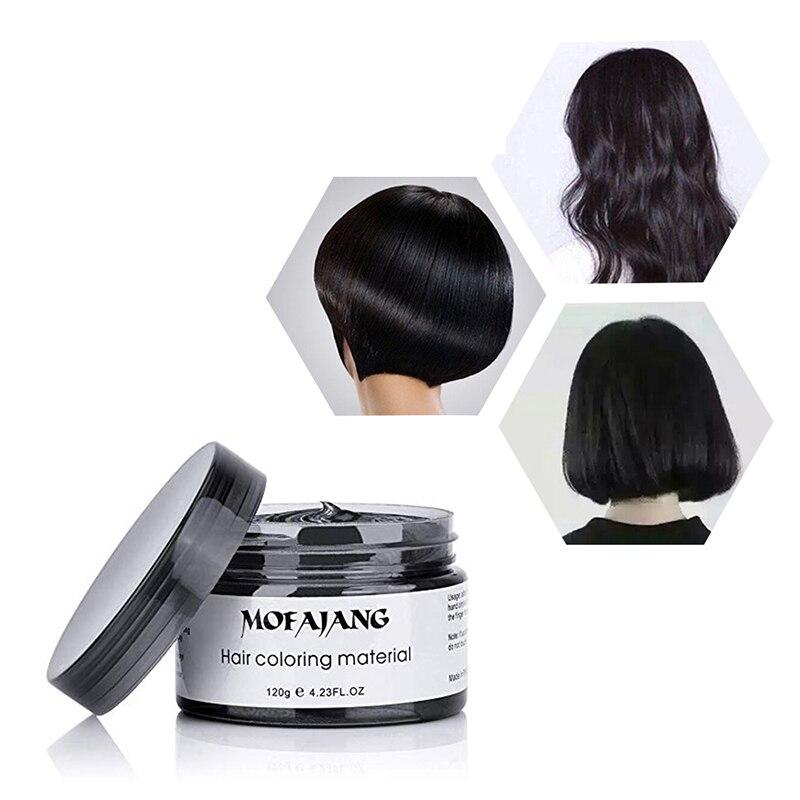 Mofajang cera de Color negro productos para el cabello tinte para el cabello pasta de moldeo única Gel fuerte para el cabello crema tinte para el cabello