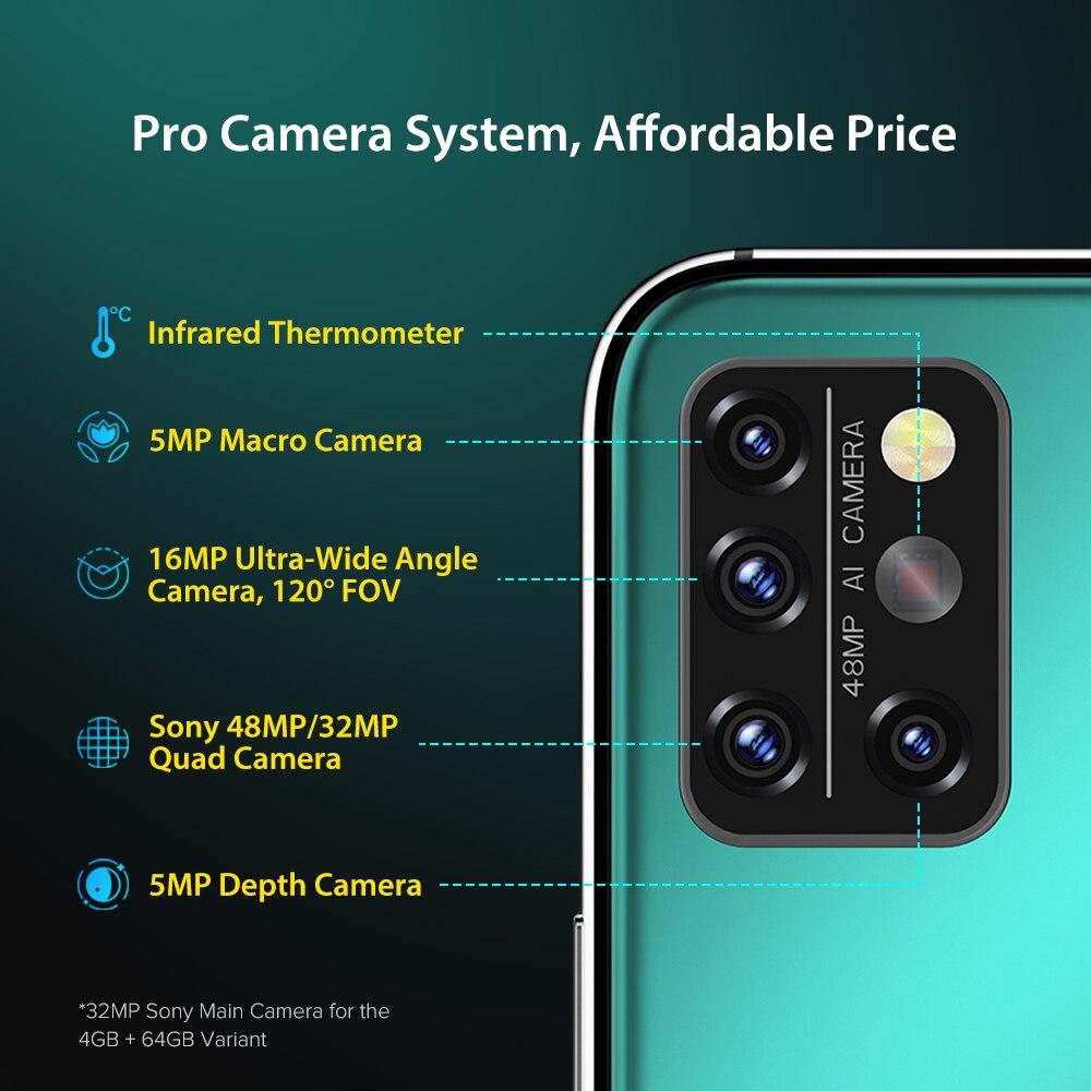 UMIDIGI A9 Pro Global Version 6GB 128GB Helio P60 48MP Quad Camera 24MP Selfie Camera Octa Core 6.3