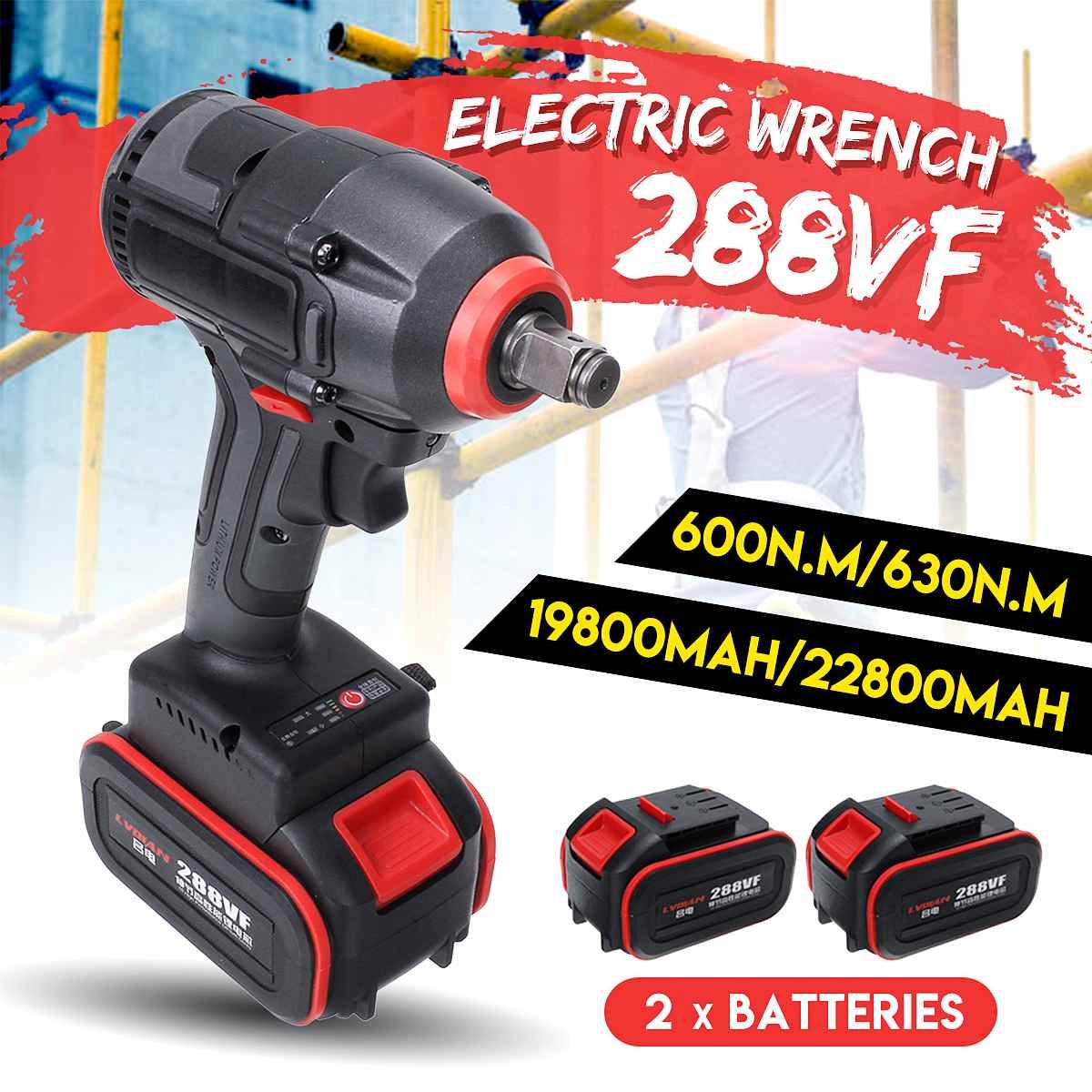 630n. m alto torque 22800mah sem escova chave de impacto elétrica sem fio chave diy recarregável com 2 ferramentas de energia da bateria li-ion