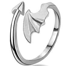 Nouvelle mode Simple flèche ailes anneau rétro personnalité Style Punk ouverture réglable mode bijoux anneau