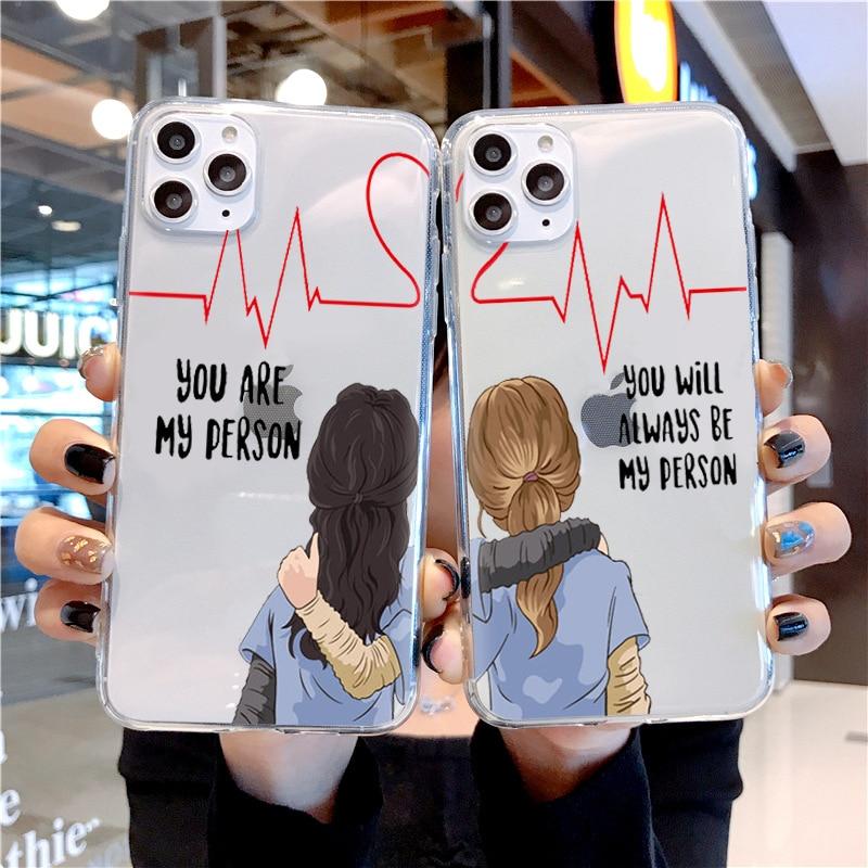 Teléfono caso grises anatomía You are my person para iPhone 11 Pro Max 5 se 6 6S 7 7 8 Plus X XS X Max XR clara suave TPU de silicona Coque cubierta