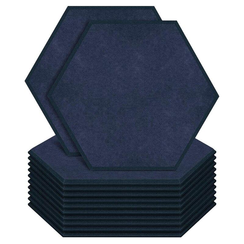 مسدس لوحات الصوتية لوحات رغوة 14X13X0.4inch الصوت التدقيق الحشو للجدار العلاج الصوتي مكتب الاستوديو