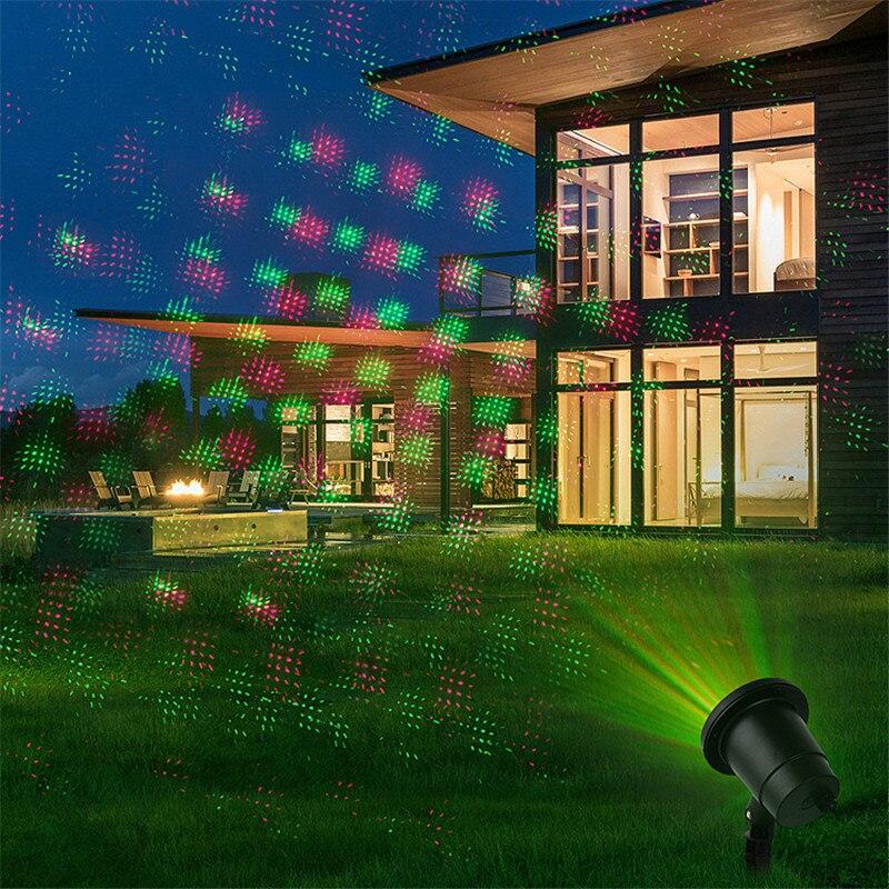 LED сцена свет движение полный небо звезда лазер проектор пейзаж освещение красный% 26 зеленый рождество вечеринка открытый сад лужайка лазер лампа