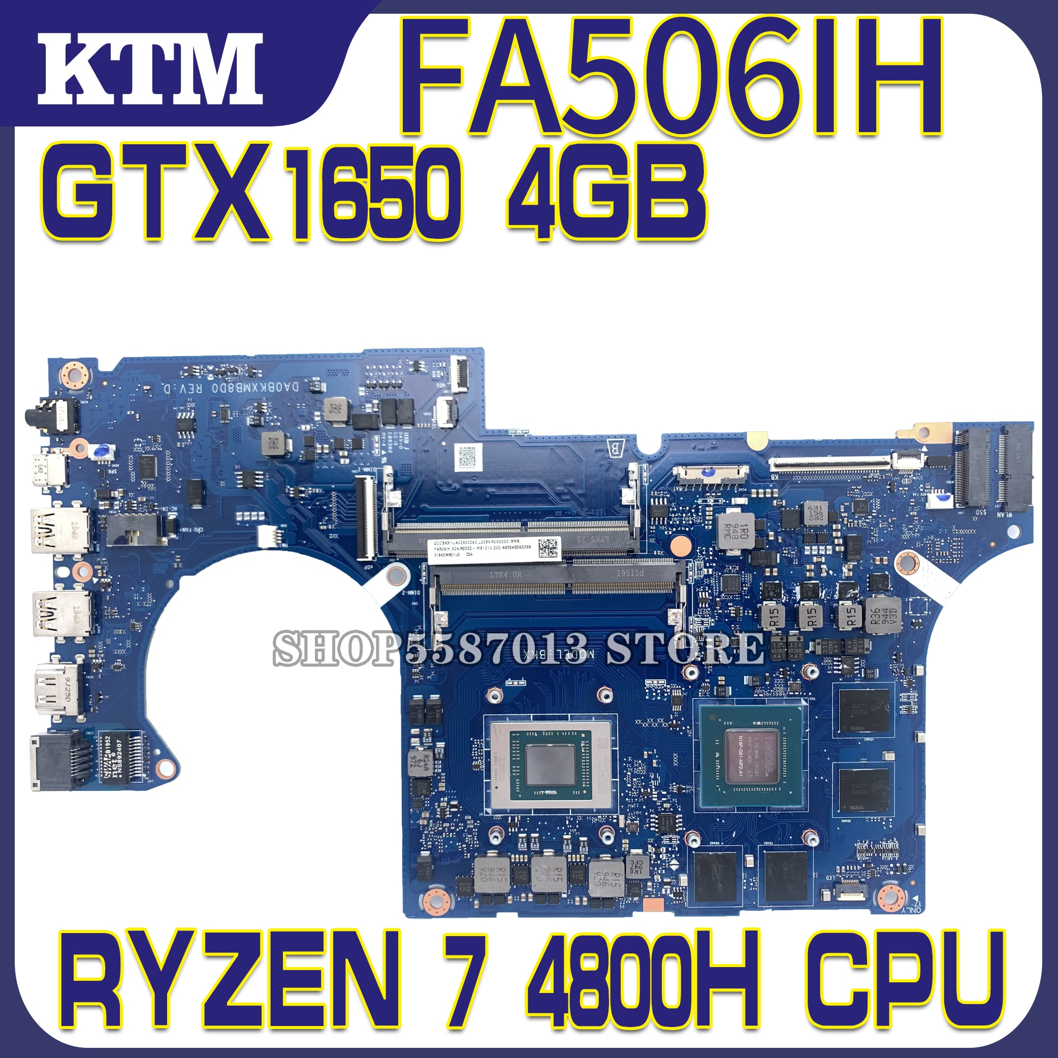 DA0BKXMB8D0 placa base de Computadora Portátil para ASUS TUF de A15 FA506IH...