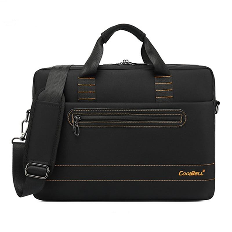 New laptop bag business men and women diagonal notebook bag 15.6-inch waterproof shockproof liner ba