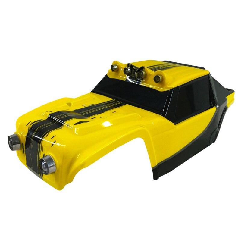 Para hbx 12891 1/12 desertrc corpo do carro escudo 891-b002 rc peça de carro para hbx 12891 rc corpo do carro escudo-amarelo
