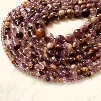 wholesale genuine auralite 23 beads4mm 6mm 8mm 10mm 12mm round gem stone loose beads for jewelry1of 15 strand