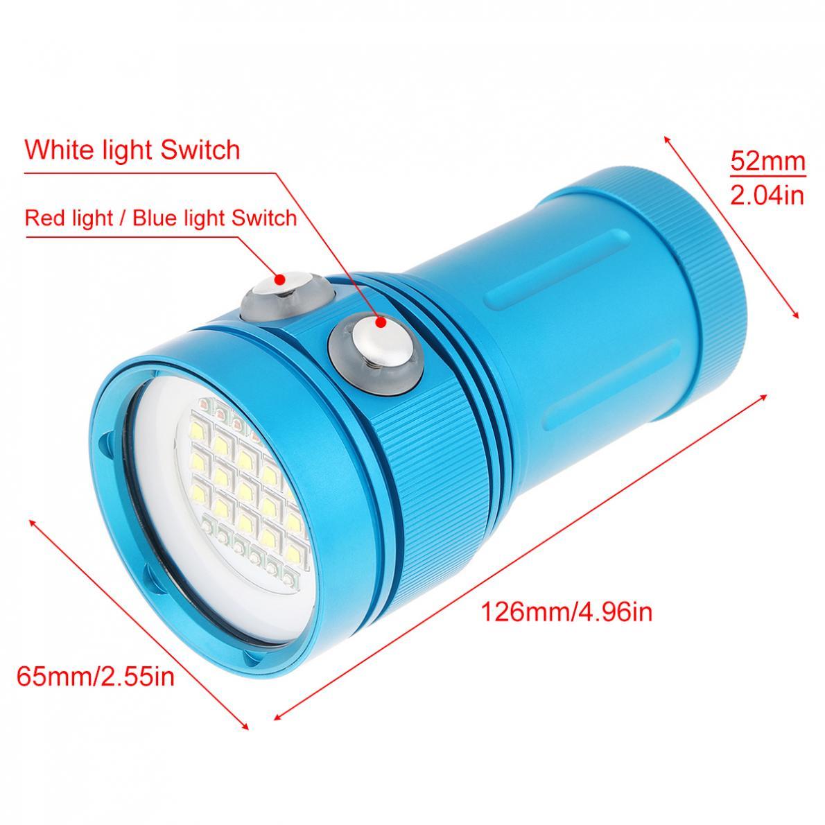 Universal Professional Diving Light Underwater 100m Scuba Video Light 150W 15 XML2 LED Photography Video Dive Flashlight enlarge