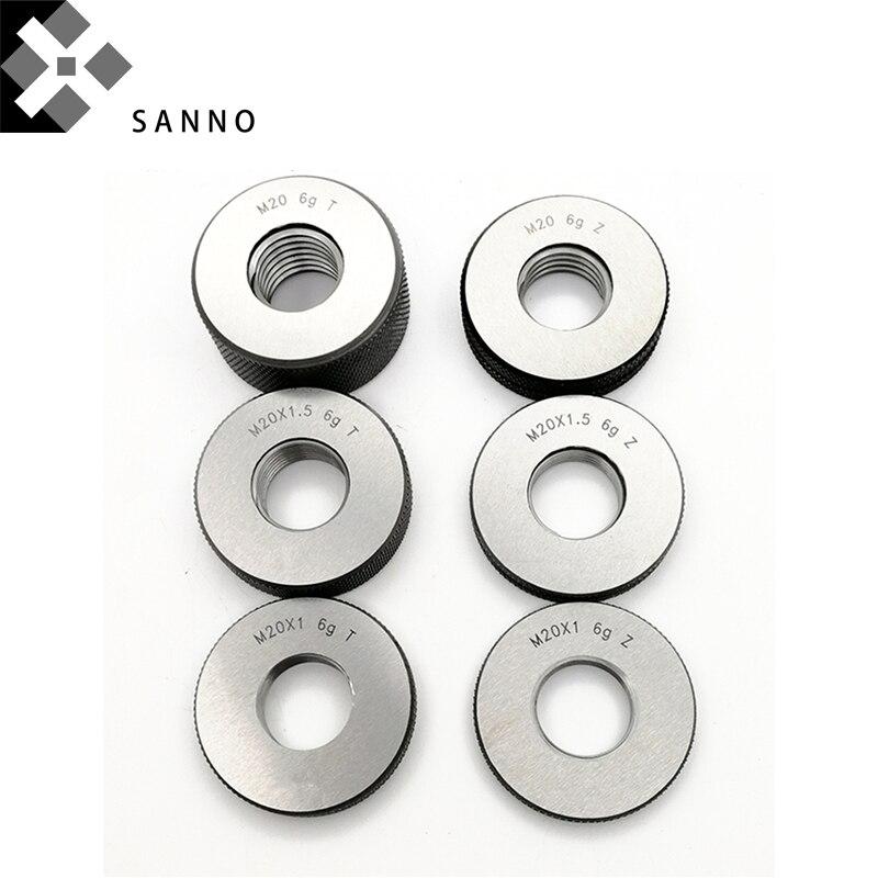 Thread ring gauge M14 / M16 / M20 / M24 x2, x1.5, x1 high precision screw thread metric go & no go gauges