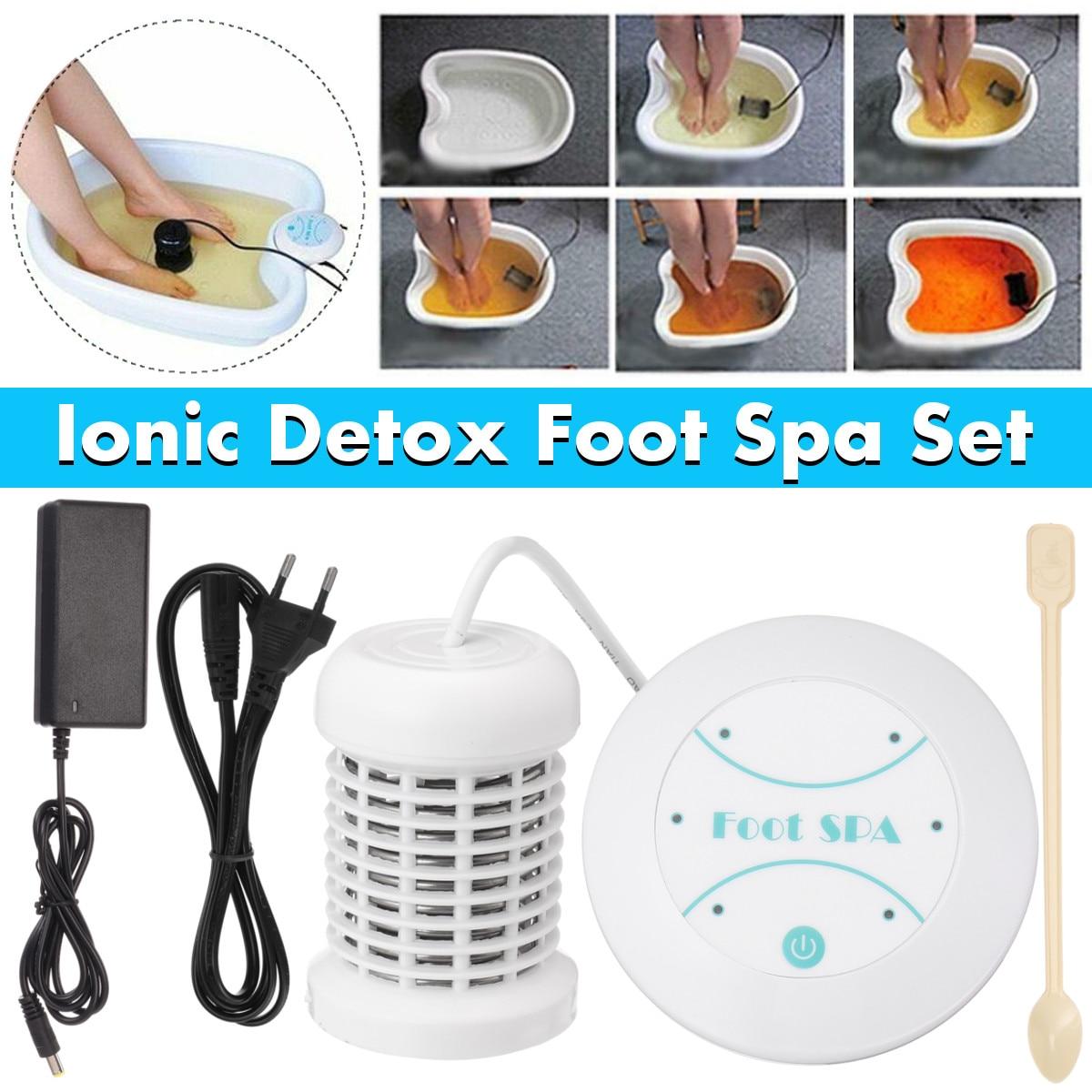 Mini máquina de desintoxicación de pies Ion limpieza iónica desintoxicación de pies baño Aqua Cell Spa máquina de masaje de pies baño desintoxicación matrices de baño Aqua Spa