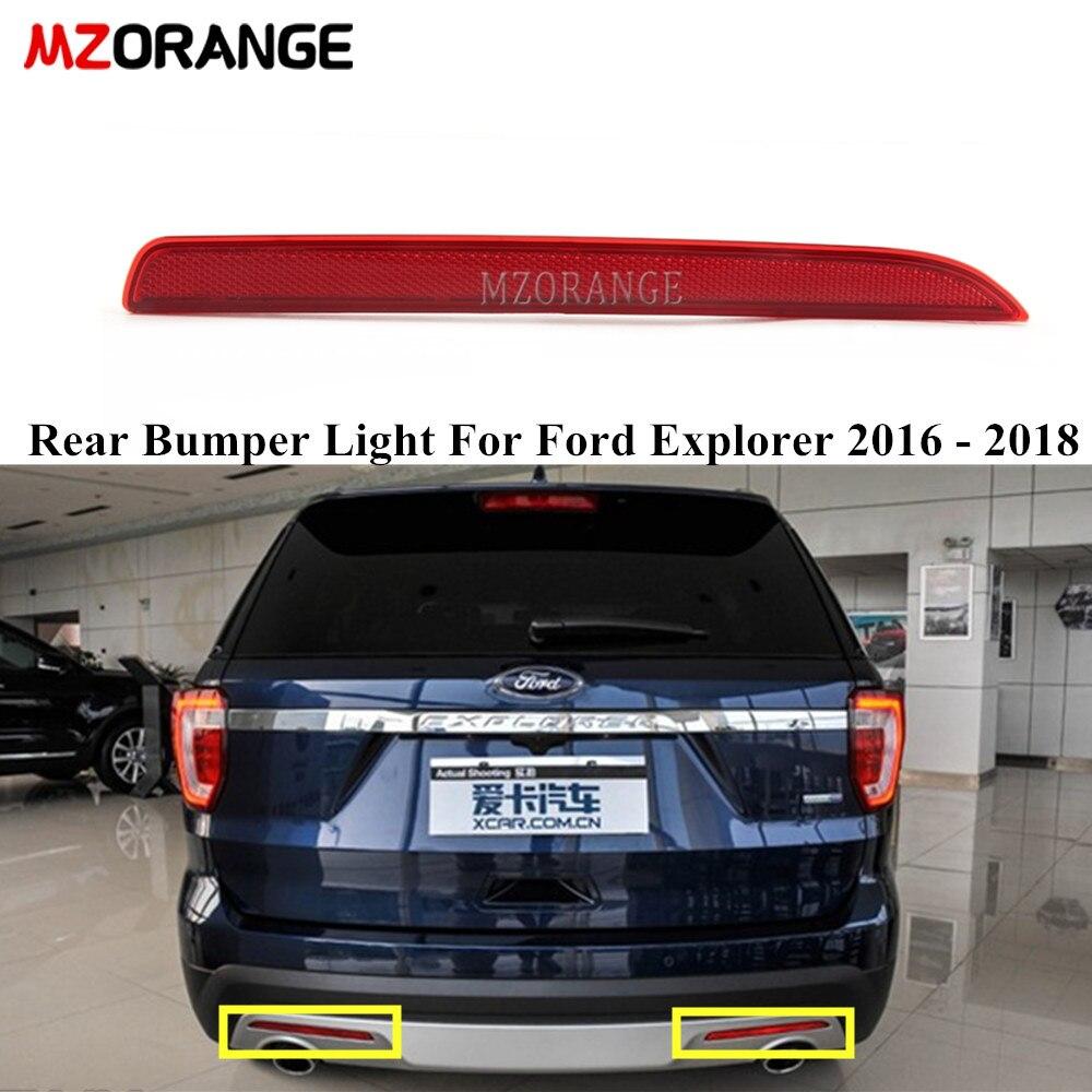 Отражатель лампы заднего бампера, светильник для Ford Explorer 2016-2018, задний стоп-сигнал поворота, задний светильник без лампы, Стайлинг автомобил...