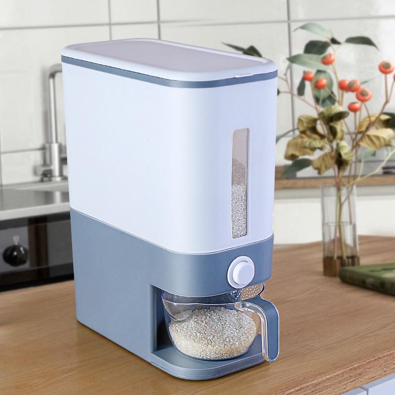 Storage Box Rice Flour Storage Tank  Moisture-Proof Storage Bucket Rice Bucket High Capacity Household Kitchen Insect-Proof