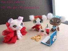لعبة نادرة الحيوانات الأليفة تقصير القط والجديد الآيس كريم كولي الكلب مع 9 اكسسوارات جمع لعبة نادرة الأطفال هدية